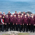 Members of the choir who sang at Lands End as part of the Cornwall International Male Choral Festival 2017