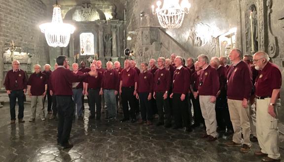 Singing in Krakow Salt Mines